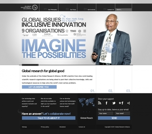 Global Research Alliance website design