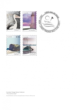 """The Central Coast"" - Australian Postage Stamps"