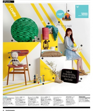 Assistant Stylist. Sydney Magazine 2012 Gift Guide (Dec 2012) Stylist - Amanda Talbot
