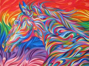 Psychedelic Horse
