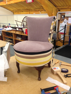 Upholstery course (in progress)