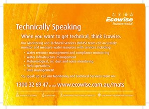 Ecowise Environmental Technical Services Press Ad