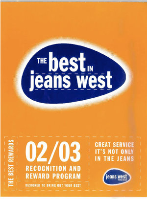 Jeans West Employee Reward and Recognition Brochure