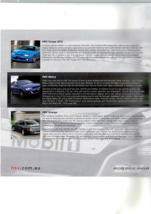 Holden Special Vehicles Brochure