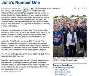 Western Bulldogs Website
