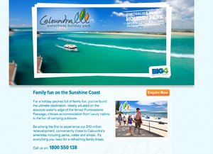 Caloundra Waterfront Holiday Park Website