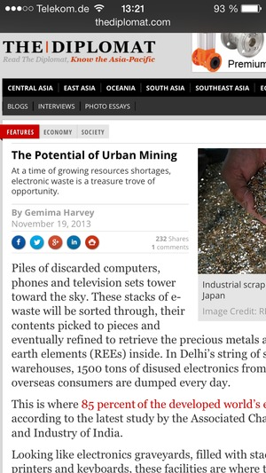The Potential of Urban Mining
