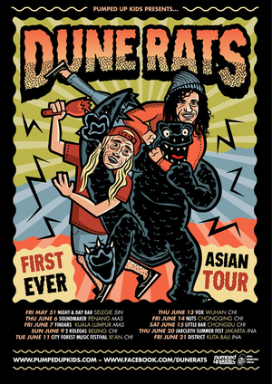 Dune Rats First Ever Asia Tour