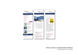 Victory Curtains and Blinds Mobile Website