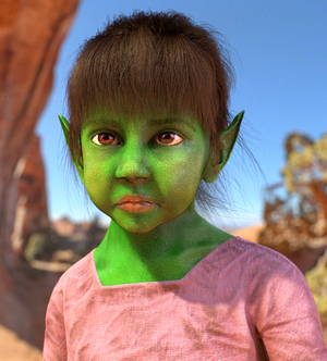 Little Orc Girl