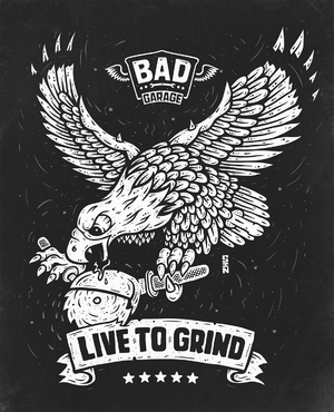 LIVE TO GRIND - Screen Printed Shirt Design