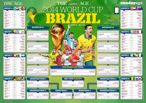 THE AGE - BRAZIL 2014 WORLD CUP WALL CHART