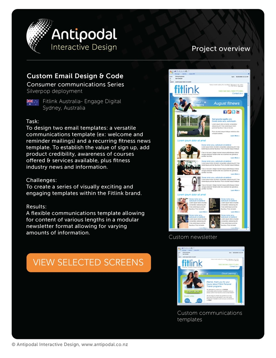 Fitlink australia silverpop modular email template larry fitlink australia silverpop modular email template larry brotherton portfolio the loop pronofoot35fo Gallery