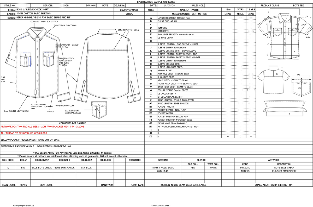 example of spec sheet johanna stacey perez portfolio