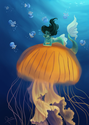 The mermaid and the jellyfish