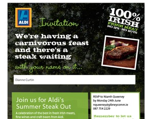 Aldi Irish meat email