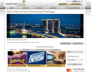 Marina Bay Sands Entertainment Packages