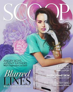 Scoop Fashion Cover and editorial collaboration with illustrator Pip mcManus