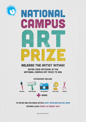 National Campus Art Prize Poster
