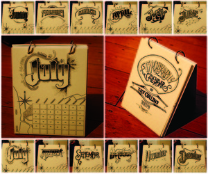 Typeography Calender