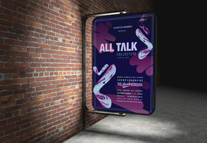 """All Talk"" event poster"