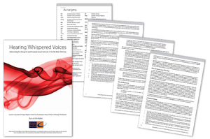 'Hearing Whispered Voices' report