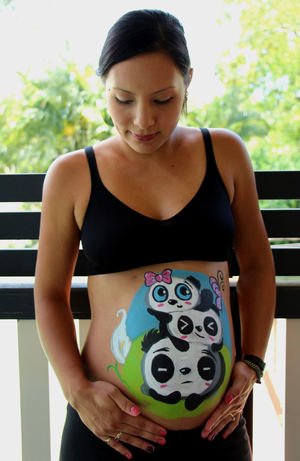 Panda Belly Painting