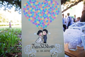 Tran & Steven's Wedding Guest Board