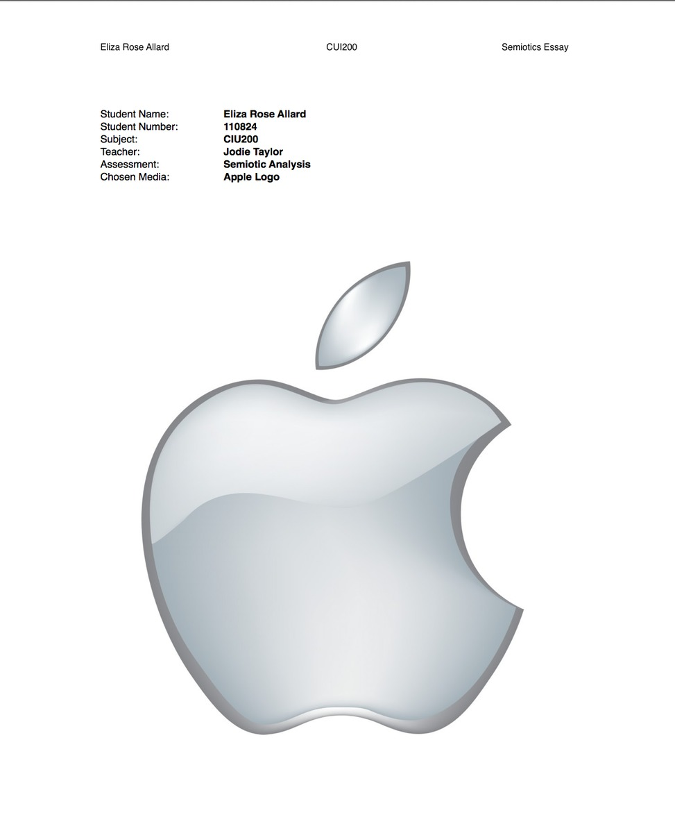 semiotics essay apple logo eliza allard portfolio the loop