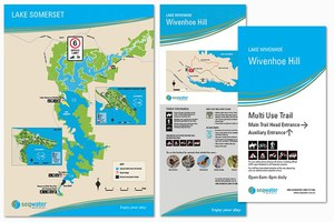 seqwater signage and brochures