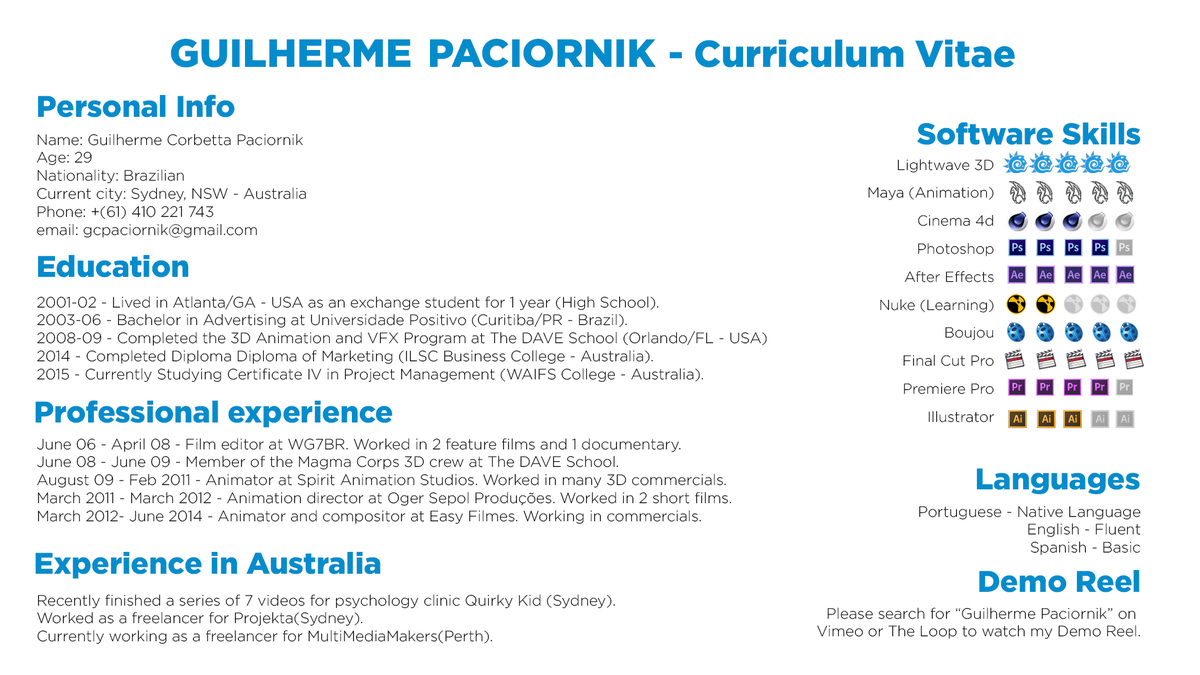 compositor resume sample