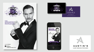 Austin's Hair Design for Men Corporate Identity