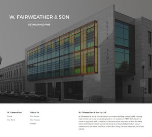 W Fairweather & Son Website