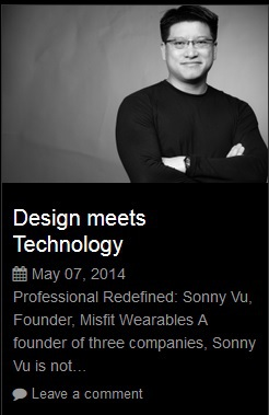 "Author of article ""Design meets Technology"""