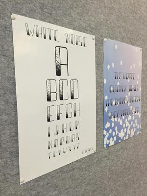 'White Noise' Typography Design
