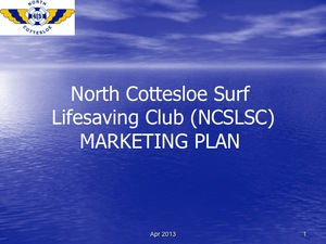 NCSLSC First Aid & Surf Safety Marketing Plan
