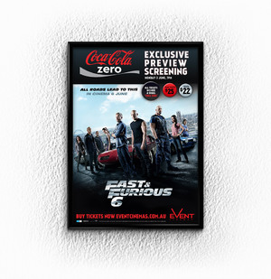 FAST & FURIOUS 6, AND COKE