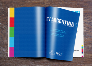 TV Argentina catalogue design