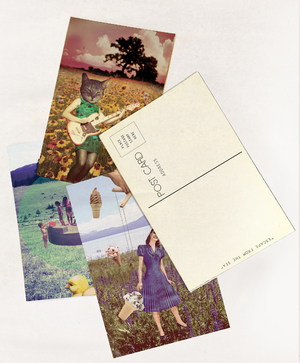 POSTCARDS - COLLAGE ART