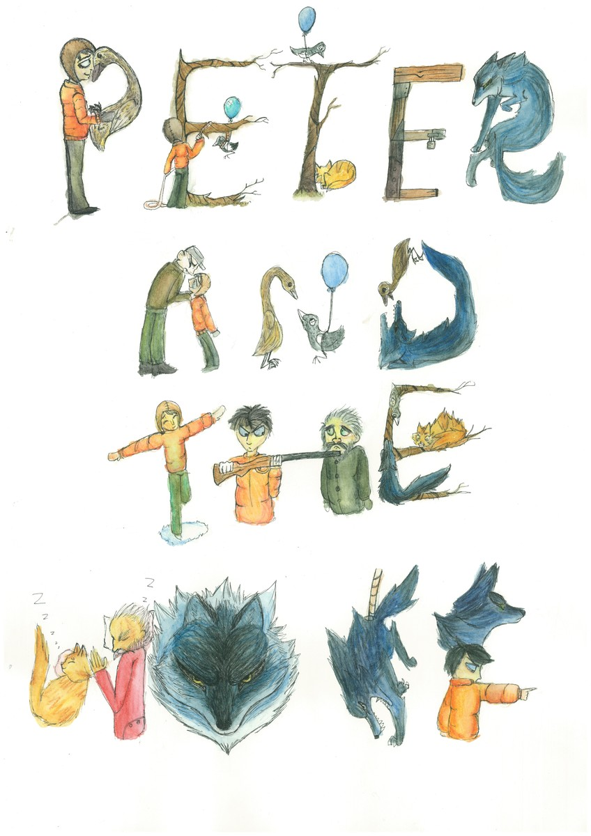 Peter and the Wolf Typography Poster - Elizabeth Finch Portfolio ...
