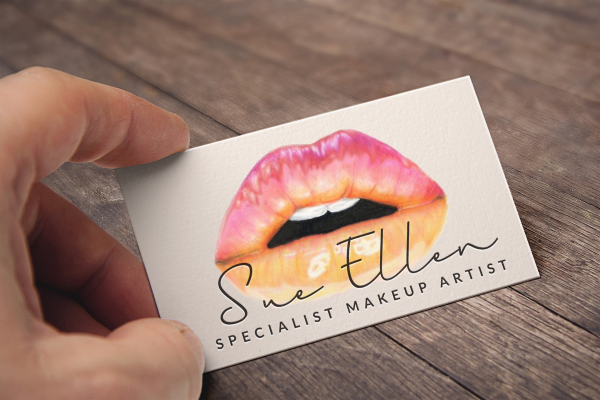 Blush Makeup Business Cards - Carley Stevens Portfolio - The Loop