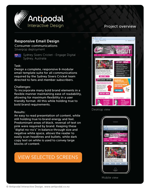 Sydney sixers responsive email template design larry brotherton sydney sixers responsive email template design larry brotherton portfolio the loop pronofoot35fo Gallery