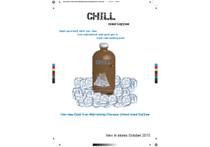Chill iced coffee