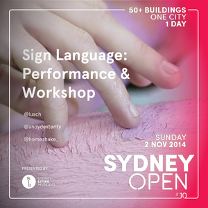 Sign Language: Performance and Workshop