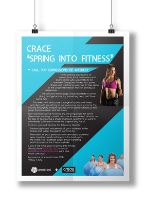 Crace Community Spring Into Fitness Flyer
