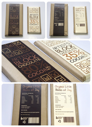 Artist's Block Chocolate Package