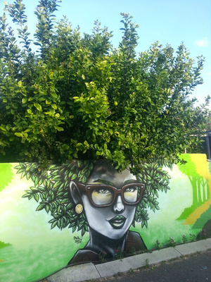 Lemon Tree Girl Mural