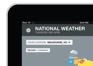 Weather App - Interface Design