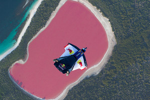 Red Bull Chuck Berry Pink Lake Jump