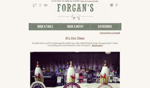 Forgan's - Monthly newsletter